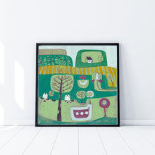 Load image into Gallery viewer, Original Linocut Print | 'Sound of Silence'