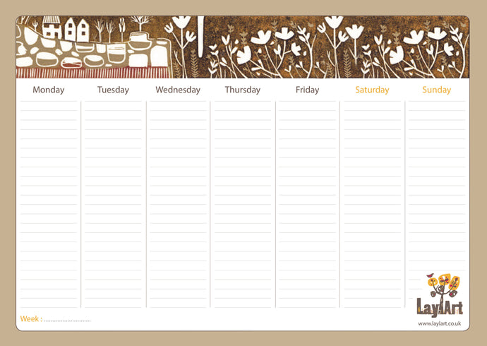 Autumn Weekly Planner Pad