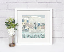 Load image into Gallery viewer, Original Linocut Print | 'Blue Winter'
