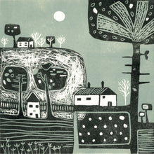 Load image into Gallery viewer, 'Above the Hills' - Original Linocut Print in Limited Edition