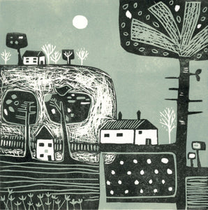 'Above the Hills' - Original Linocut Print in Limited Edition