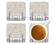 Load image into Gallery viewer, Set of 4 Melamine Placemats in Winter Design, Unique Set of 4 Placemats, Table Mats for Christmas,, Quirky Designer Coasters and Mats