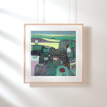 Load image into Gallery viewer, Original Linocut Print | 'Summer in the Hills'