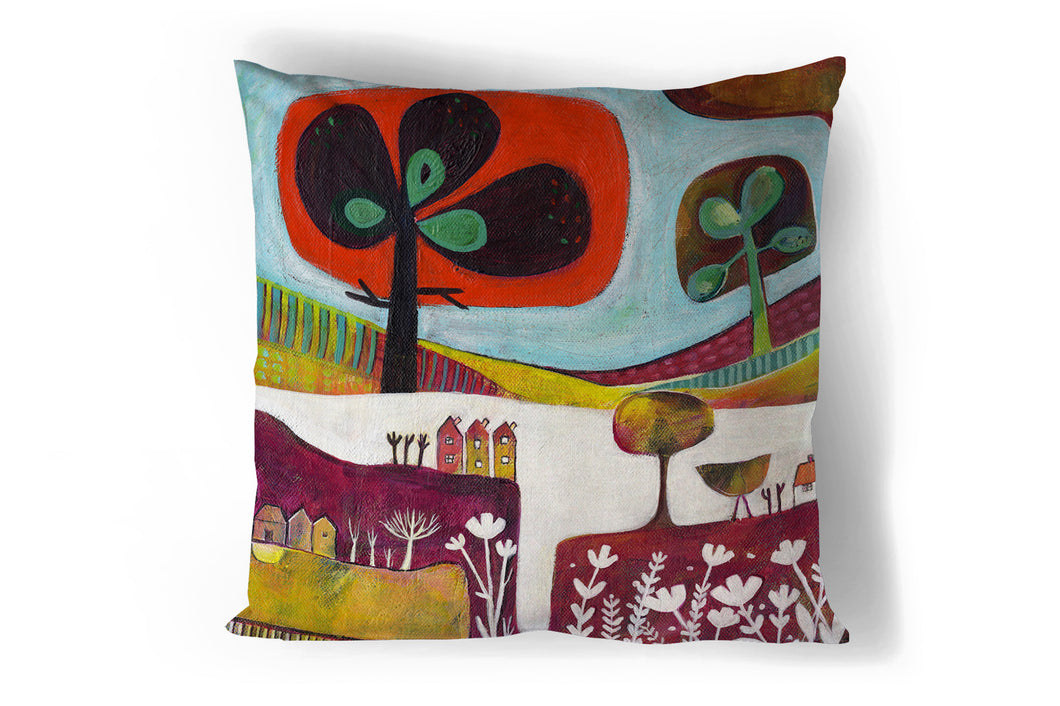 'Pink Meadow' Cushion Cover
