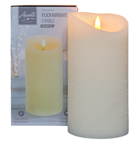 Flickabrights LED Flickering Effect Candle - 18cm