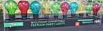 Set of 10 LED Extendable Party Lights - Multi-colour (Round Bulb)