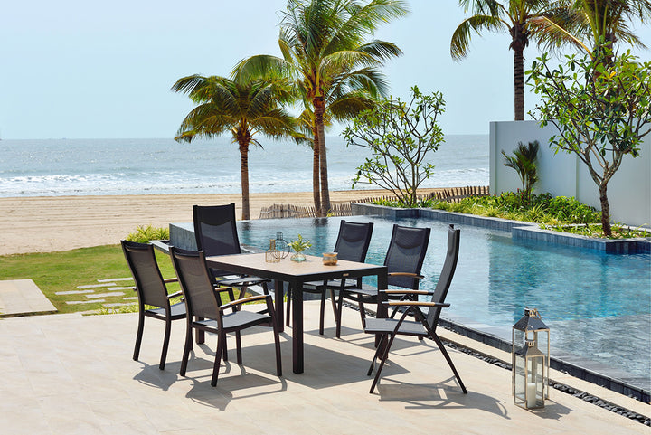 Panama 6 Seat Rectangular Dining Set by Lifestyle Garden