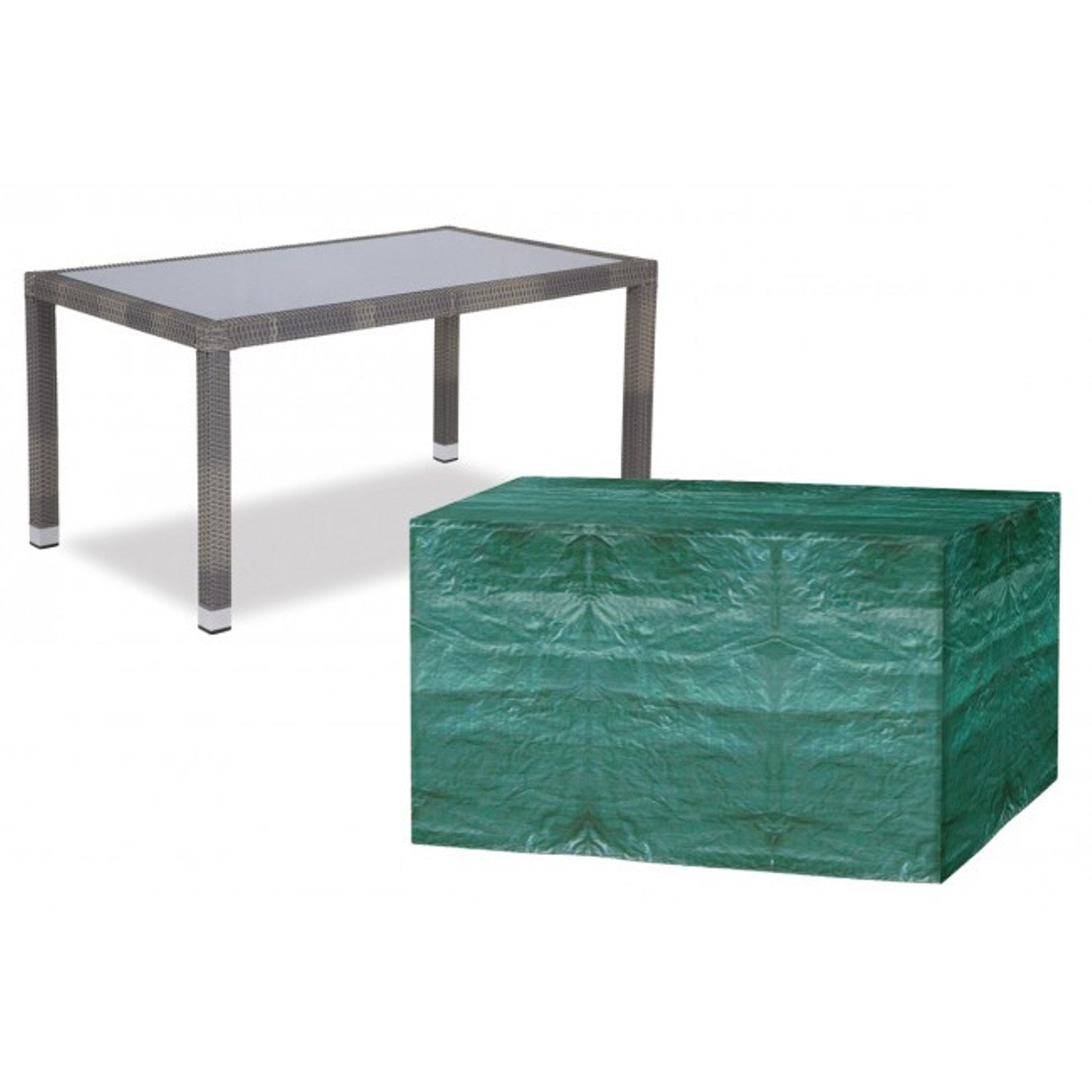 225 & 4 Seater Rectangular Table Garden Furniture Cover (W1172)