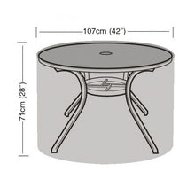 Load image into Gallery viewer, 4 Seater Round Table Garden Furniture Cover (W1160)