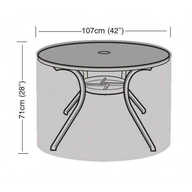 Garland 4 Seater Round Table Garden Furniture Cover (W1160)