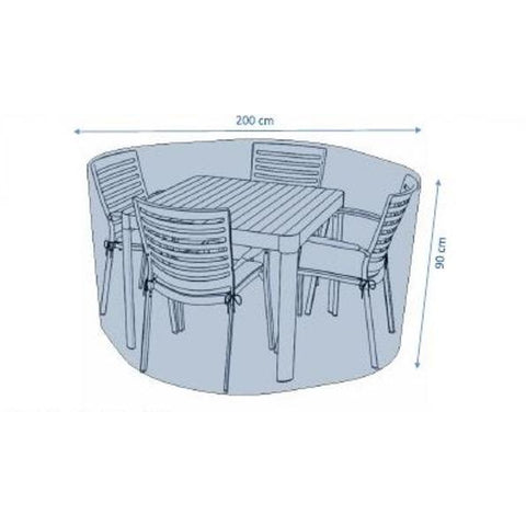 Deluxe 4 Seat Dining Set Cover by Hills Leisure
