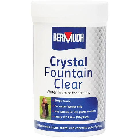 Crystal Fountain Clear Water Feature Treatment by Bermuda