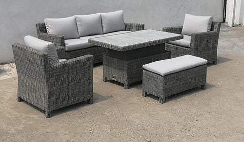 Washington Sofa Set with Adjustable Table by Hills Leisure