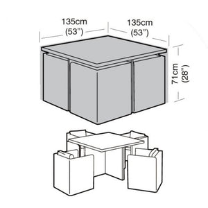 Garland Deluxe Large Cube Set Garden Furniture Set Cover (W1638)