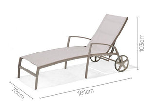 Morella Aluminium Wheel Lounger Sun Bed
