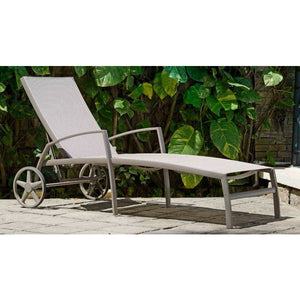 Morella Aluminium Wheel Lounger by Lifestyle Garden