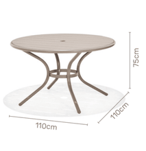 Load image into Gallery viewer, Morella 4 Seater Round Aluminium Dining Set