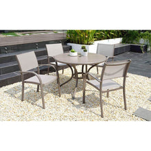 Load image into Gallery viewer, Morella 4 Seat Round Aluminium Dining Set by Lifestyle Garden