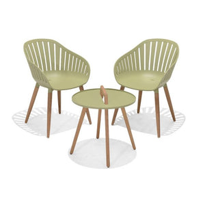 Nassau 2 Seater Round Coffee Set - Lime