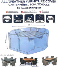 Load image into Gallery viewer, Deluxe 6 Seat Round Dining Set Cover