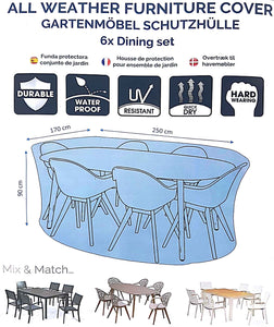 Deluxe 6 Seat Dining Set Cover