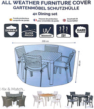Load image into Gallery viewer, Deluxe 4 Seat Dining Set Cover