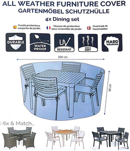 Deluxe 4 Seat Dining Set Cover