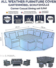 Load image into Gallery viewer, Deluxe Medium Corner Casual Dining Set Cover