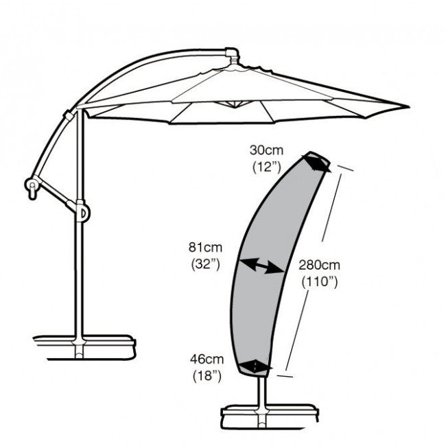 Garland Deluxe Sail Parasol Garden Furniture Set Cover (W1460)