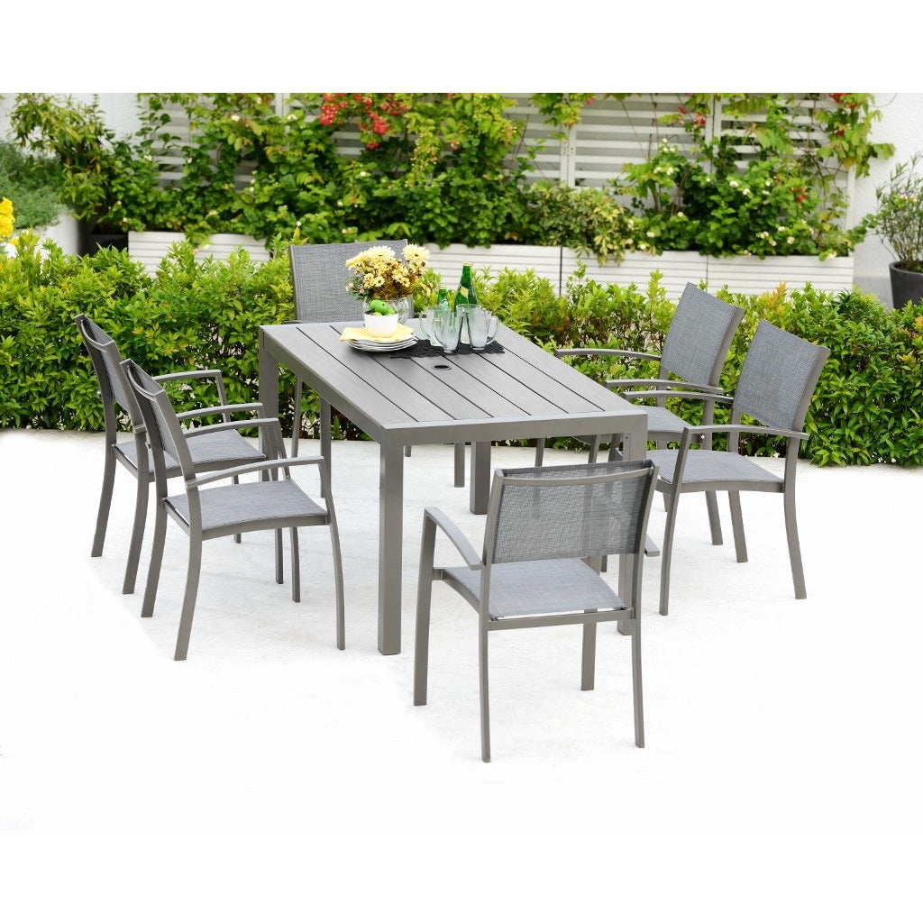 Solana 6 Seater Aluminium Dining Set by Lifestyle Garden