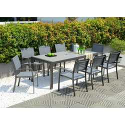 Solana 8 Seater Aluminium Dining Set by Lifestyle Garden
