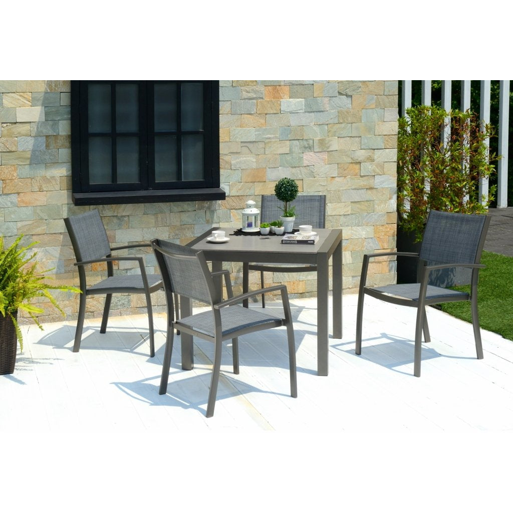 Solana 4 Seater Aluminium Dining Set by Lifestyle Garden
