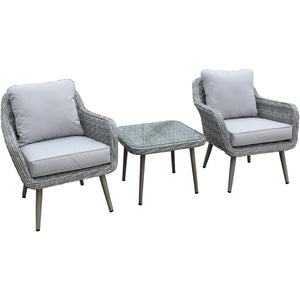 Stockholm Rattan Weave Bistro Set by Hills Leisure