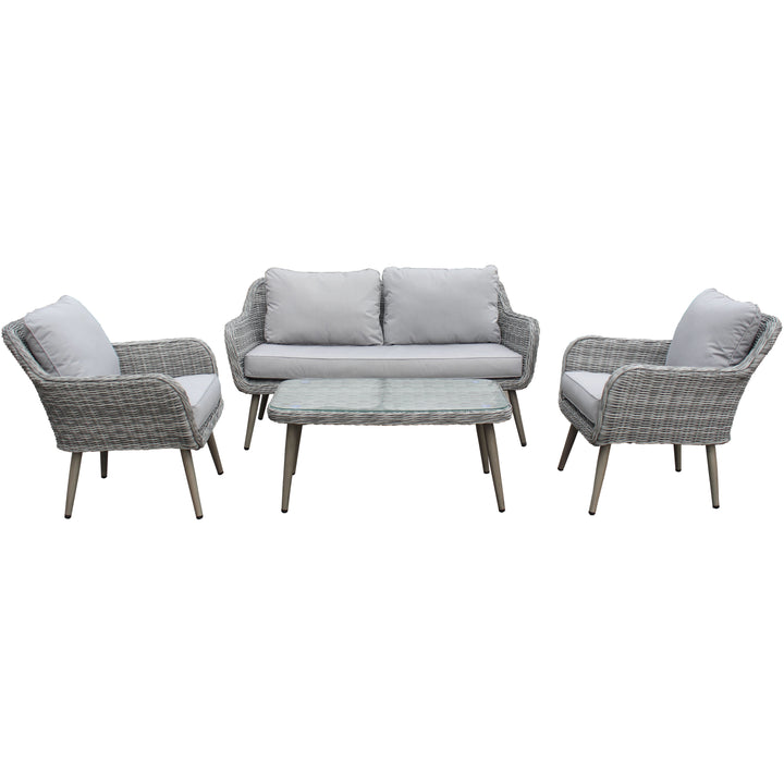 Stockholm Rattan Weave Sofa Set by Hills Leisure