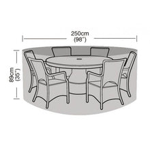 Load image into Gallery viewer, Garland 6-8 Seater Round Dining Garden Furniture Set Cover (W1200)