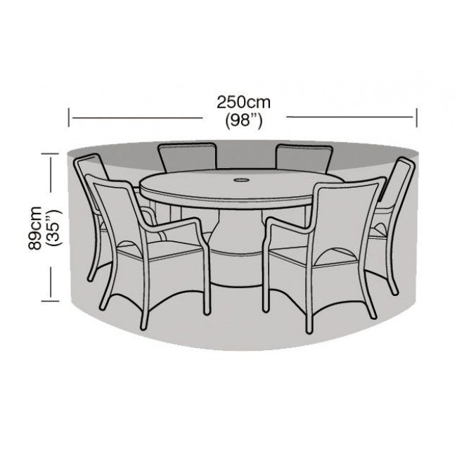 Garland 6-8 Seater Round Dining Garden Furniture Set Cover (W1200)