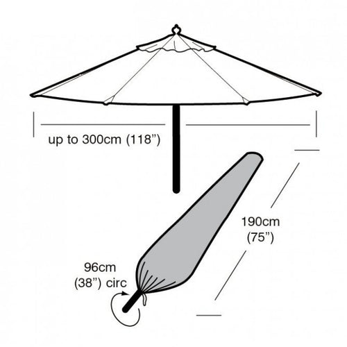 Garland Deluxe Large Parasol Cover (W1448)