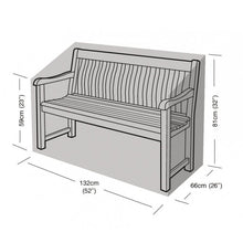 Load image into Gallery viewer, Garland 2 Seater Bench Garden Furniture Cover (W1264)