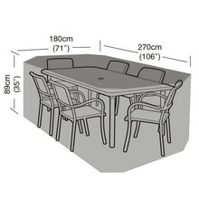 Load image into Gallery viewer, Deluxe 6 Seat Rectangular Dining Garden Furniture Set Cover (W1412)