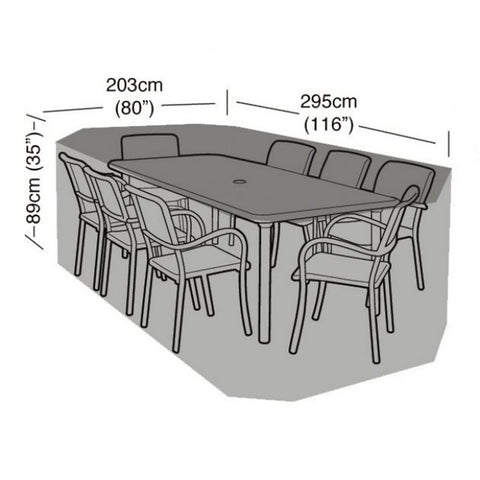 Garland Deluxe 8 Seater Rectangular Garden Furniture Set Cover (W1416)