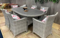 Samoa Lite Oval 6 Seat Dining Set by Lifestyle Garden