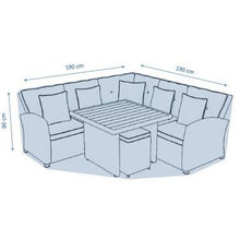 Load image into Gallery viewer, Deluxe Medium Corner Casual Dining Set Cover by Hills Leisure