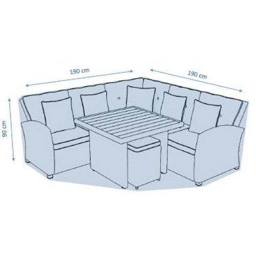 Deluxe Medium Corner Casual Dining Set Cover by Hills Leisure