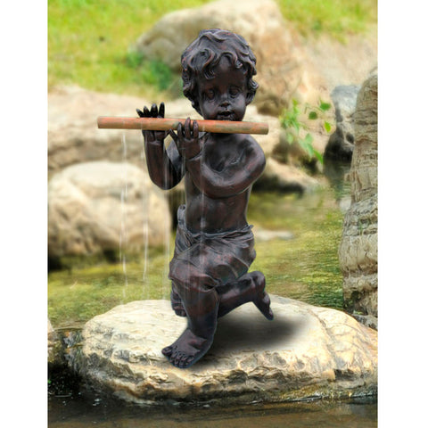 Pan Piper Pond Pixie Spitter Water Feature by Bermuda