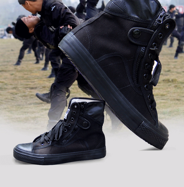 2019 Army Fashion Black Breathable Safety Shoes