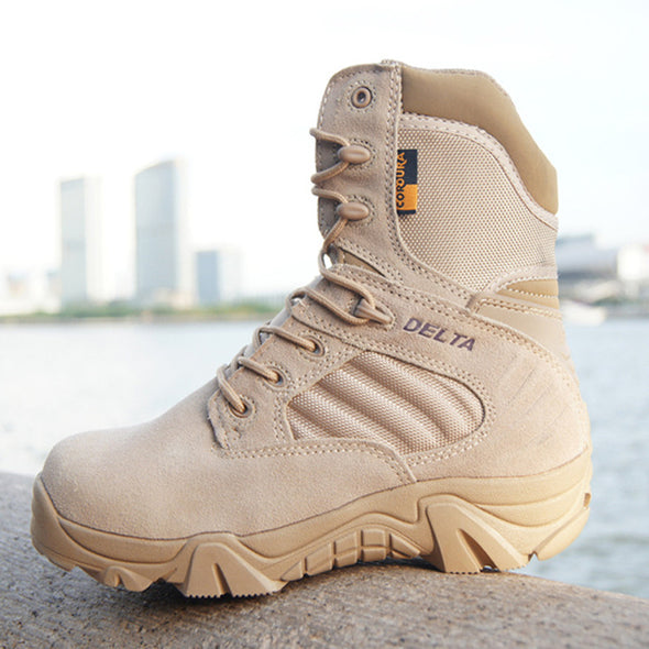 Men Military Tactical Outdoor Hiking Leather Combat Boot