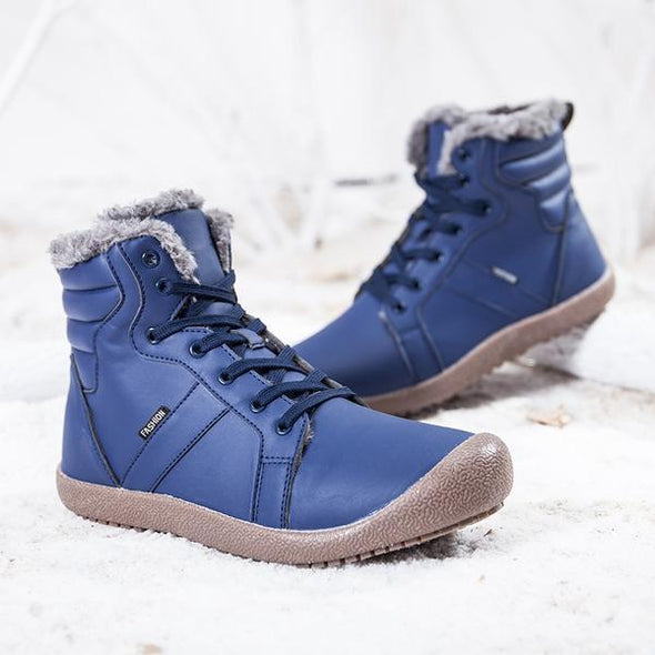 Casual Round Toe Snow Boots With Warm Fur