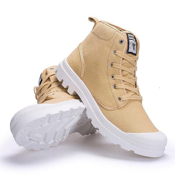 Ankle Military Canvas Tactical Combat Lace-Up Boots
