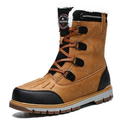 New Winter Plush Warm Man Snow Boots