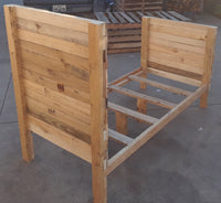 Handmade Rustic Style Solid Wood Twin Bed - LOCAL PICKUP ONLY